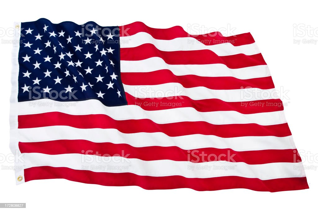 Isolated American Flag (XL) stock photo