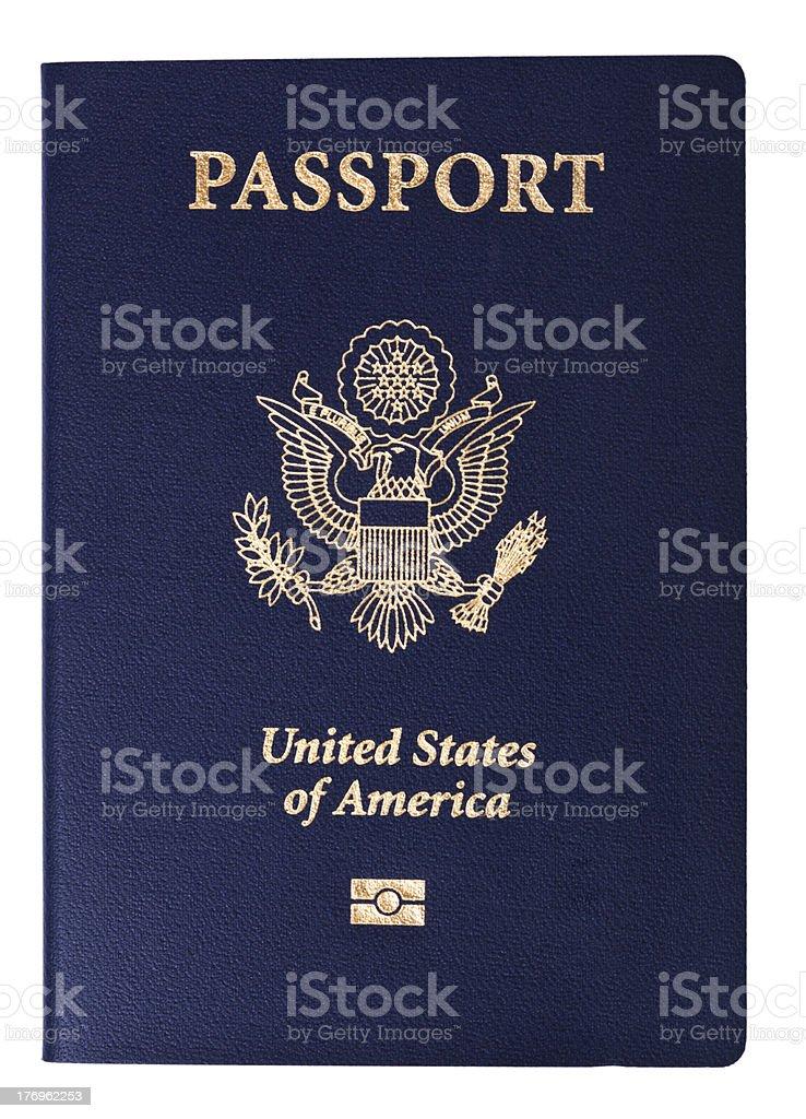 Isolated American Passport stock photo