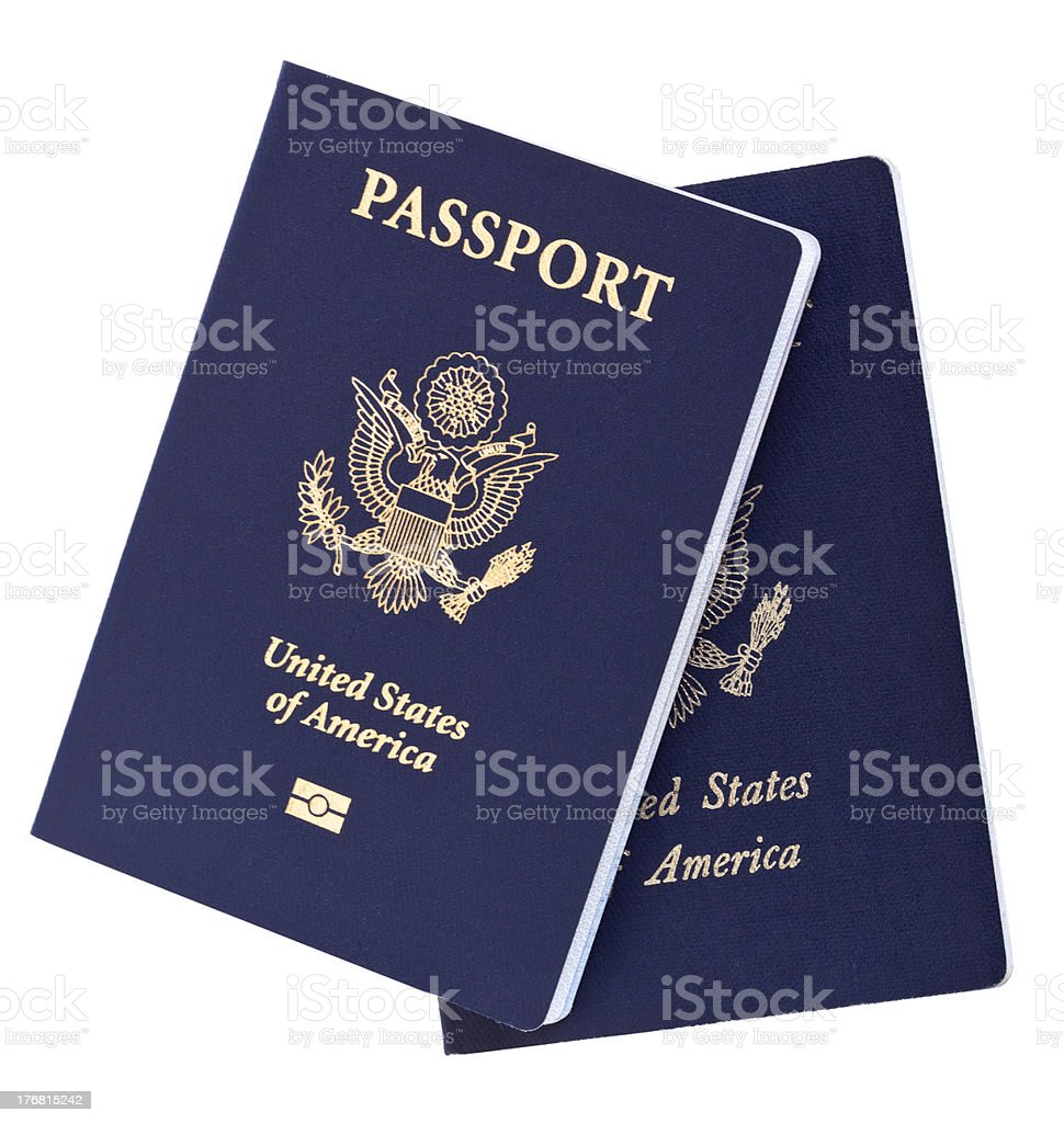 Isolated American Passports stock photo