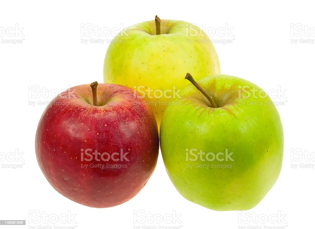 isolated apples royalty-free stock photo
