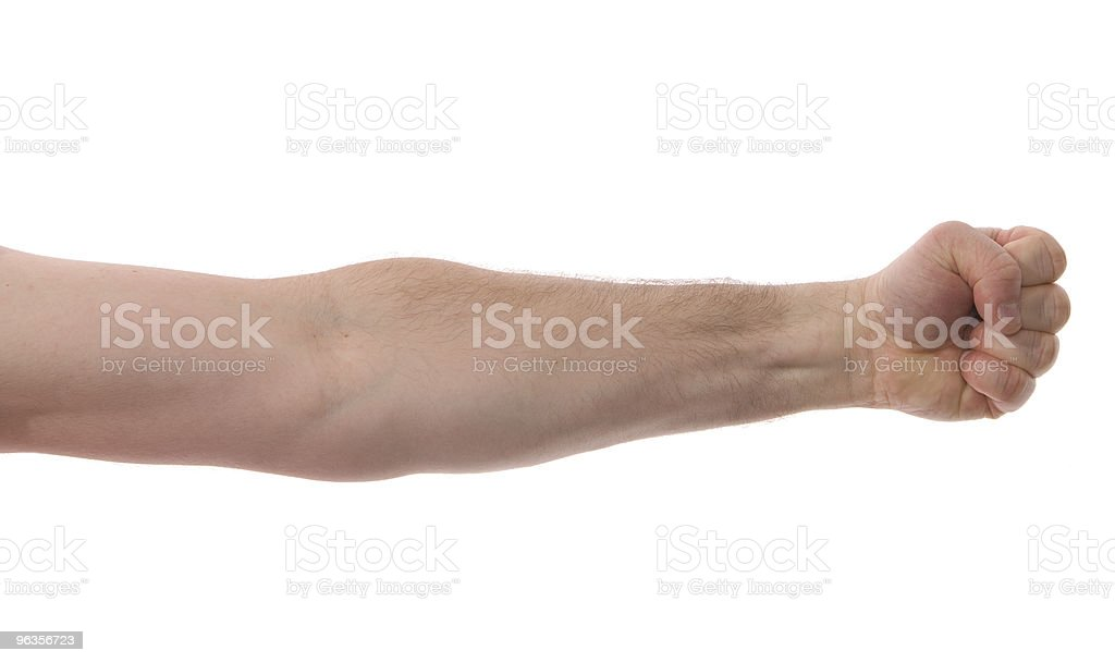 Isolated Arm with Fist stock photo
