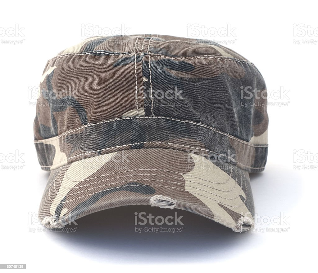 Isolated Army Hat stock photo