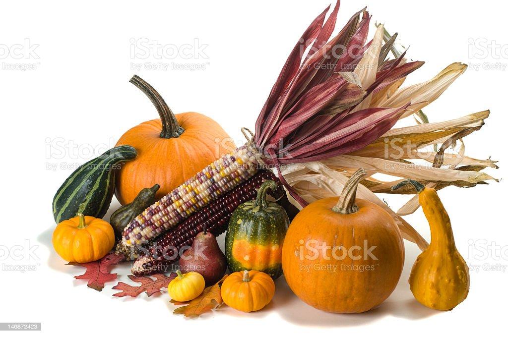 Isolated Autumn arrangement royalty-free stock photo
