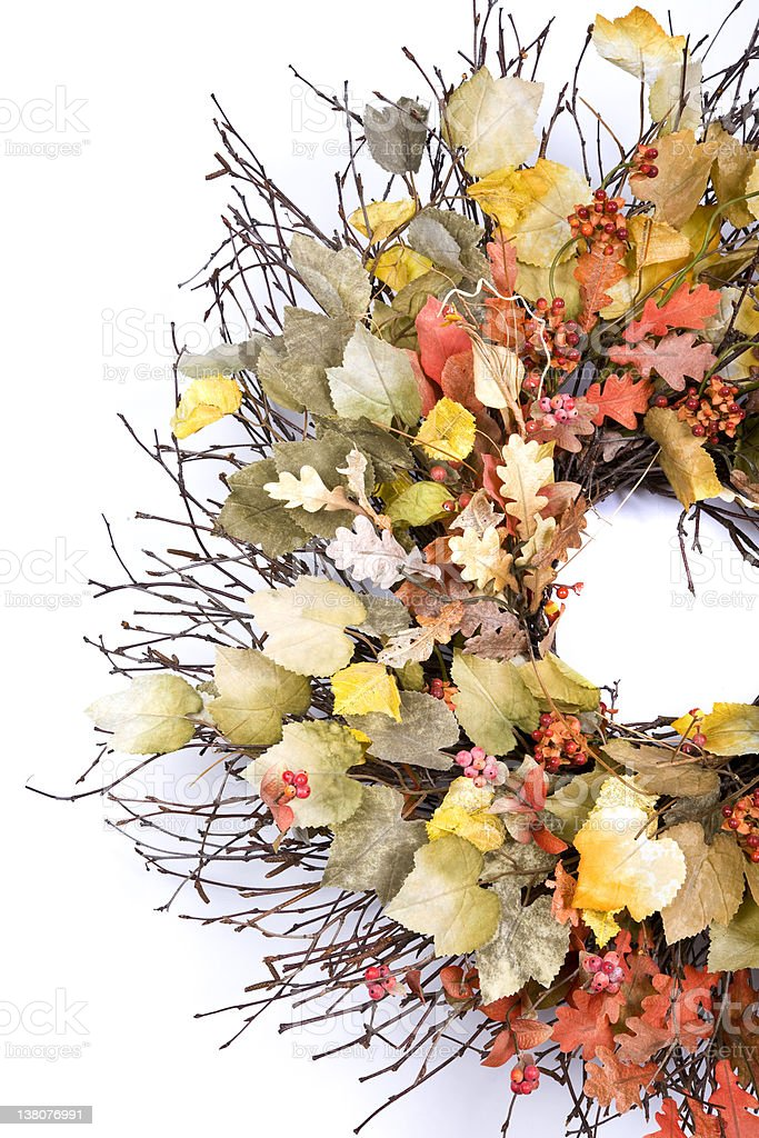 Isolated Autumn Wreath  (XXL) royalty-free stock photo
