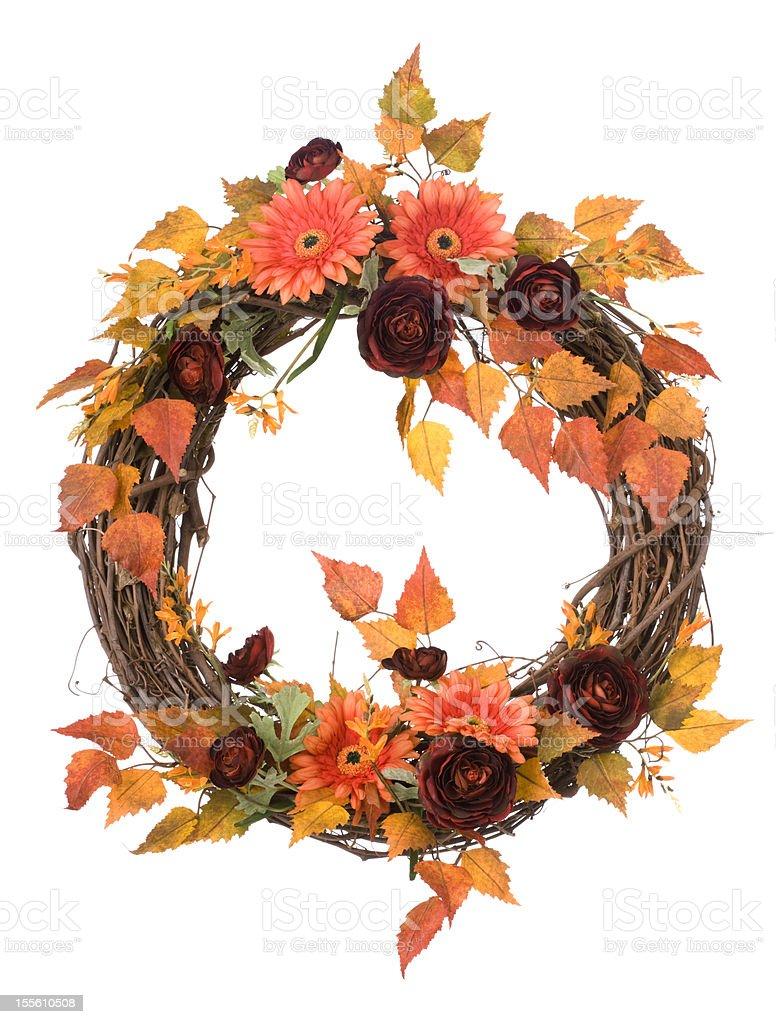 Isolated Autumn Wreath  (XXL) royalty-free stock photo