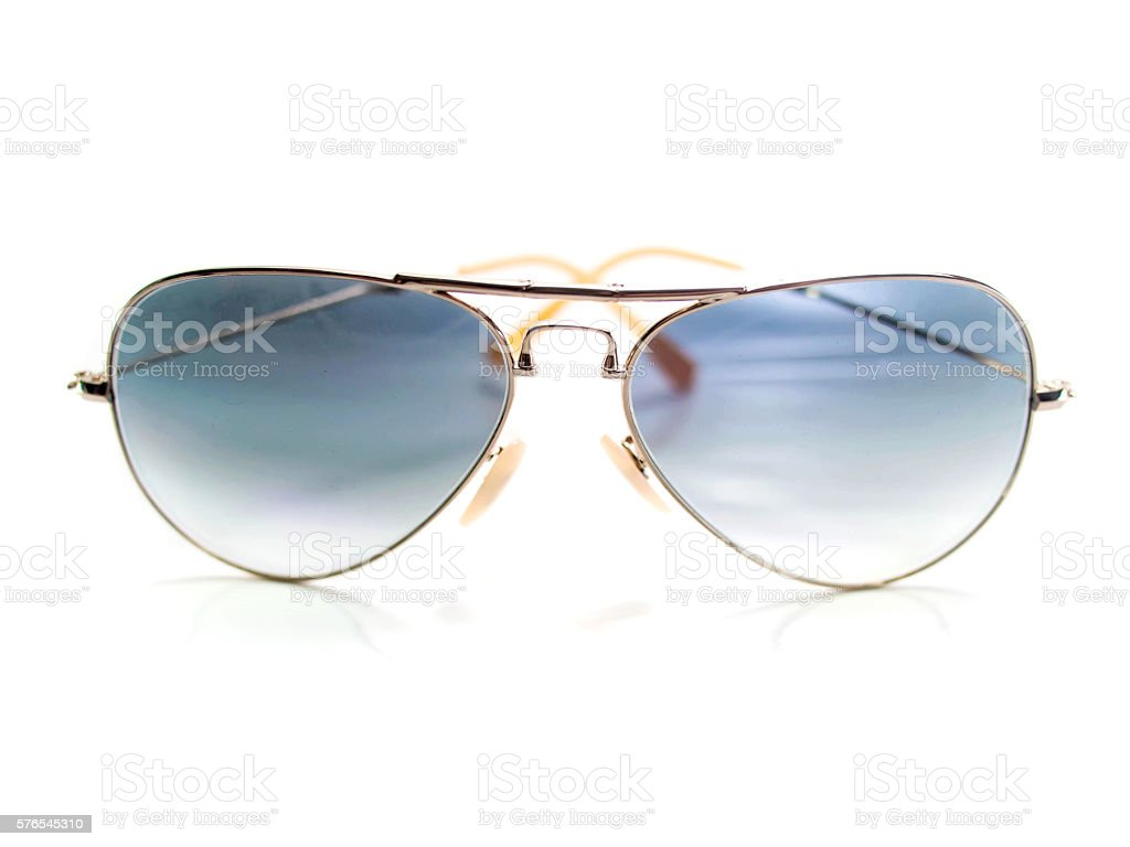 Isolated aviator style sunglasses stock photo