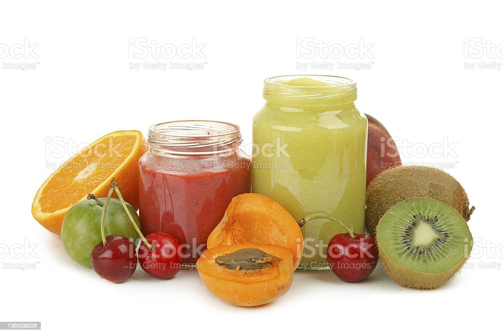 isolated baby food stock photo