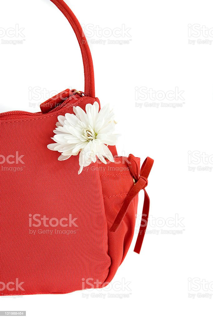 Isolated bag with cute little flower royalty-free stock photo