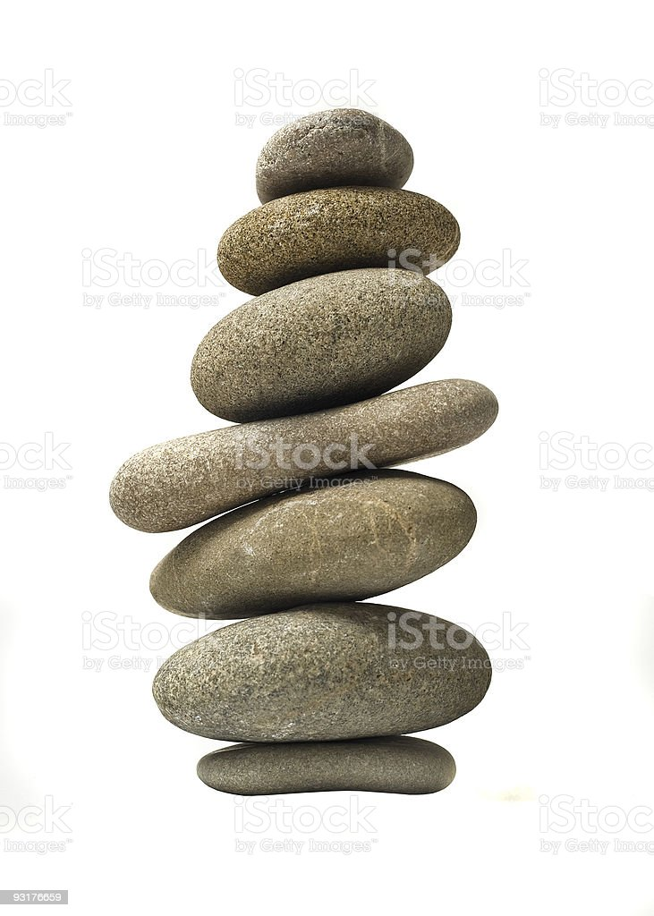 Isolated Balanced stone stack or tower royalty-free stock photo