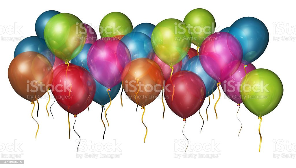isolated balloons royalty-free stock photo
