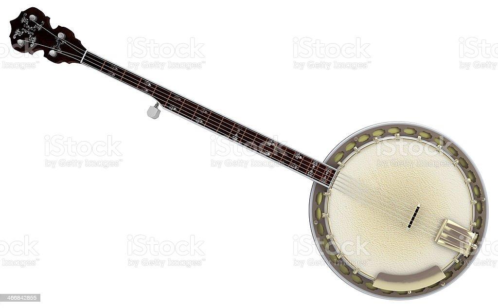 Isolated Banjo stock photo