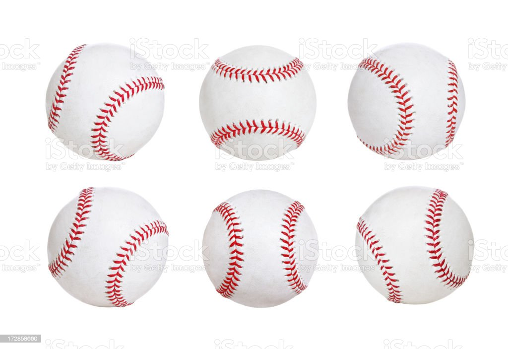 Isolated Baseballs (XXL) stock photo