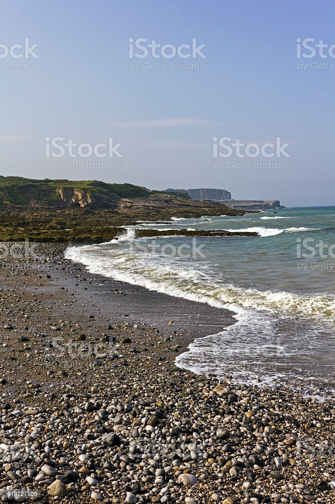 Isolated Beach, Anglesey stock photo