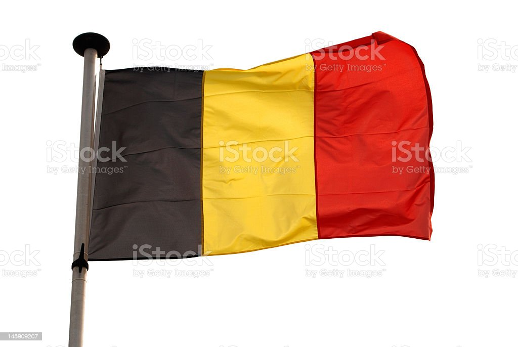 Isolated belgian flag with clipping path royalty-free stock photo