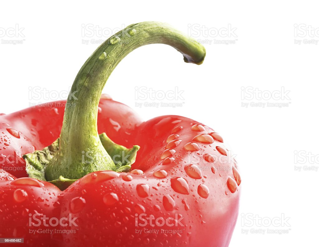 isolated bell pepper paprika royalty-free stock photo