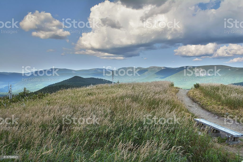 Isolated bench stock photo