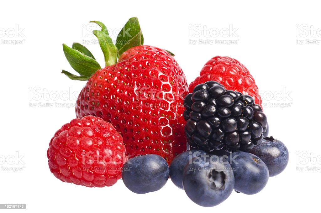 Isolated berries stock photo