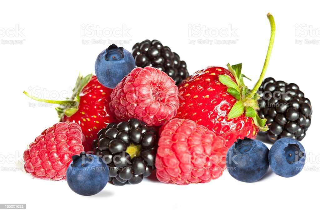 Isolated berries royalty-free stock photo