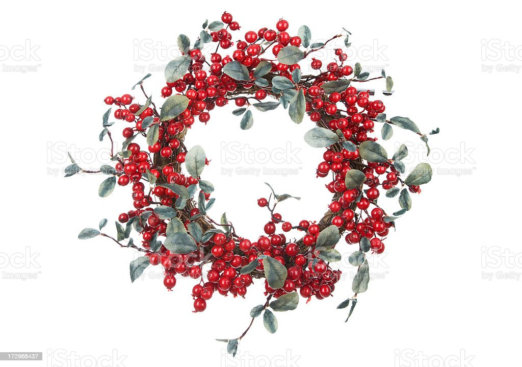 Isolated Berry Wreath(XXL) royalty-free stock photo