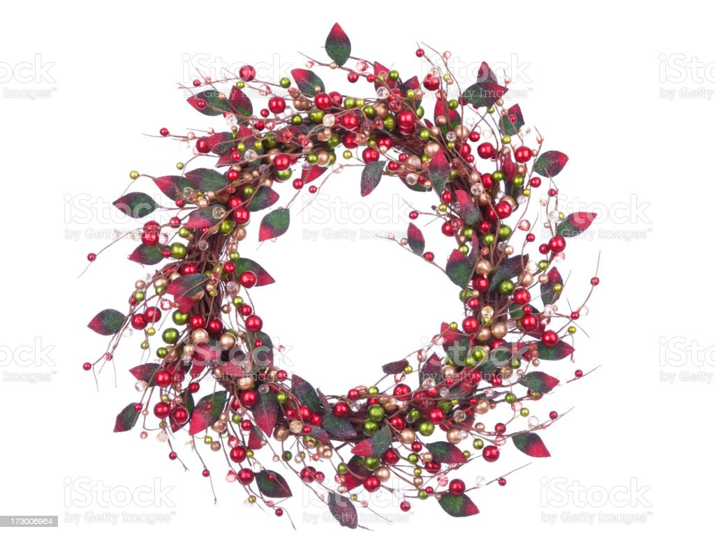Isolated Berry Wreath (XXL) stock photo