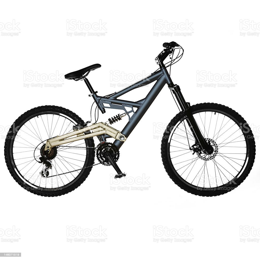 isolated bicycle royalty-free stock photo