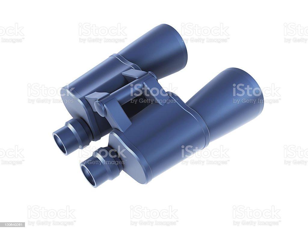 isolated binoculars 3d render royalty-free stock photo