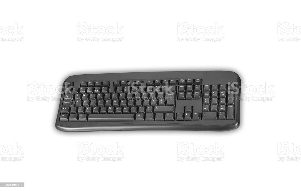 isolated black keyboard stock photo
