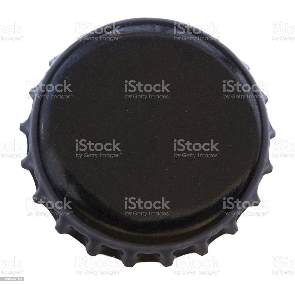 Isolated Black Metal Bottle Cap stock photo