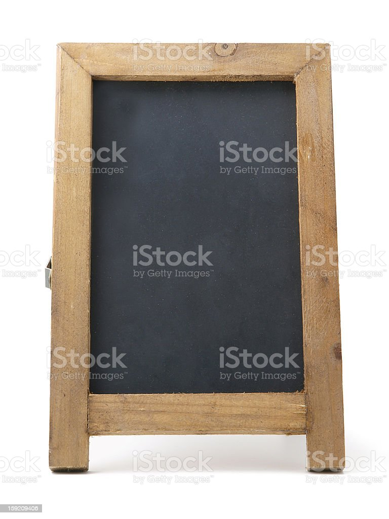 Isolated blackboard royalty-free stock photo