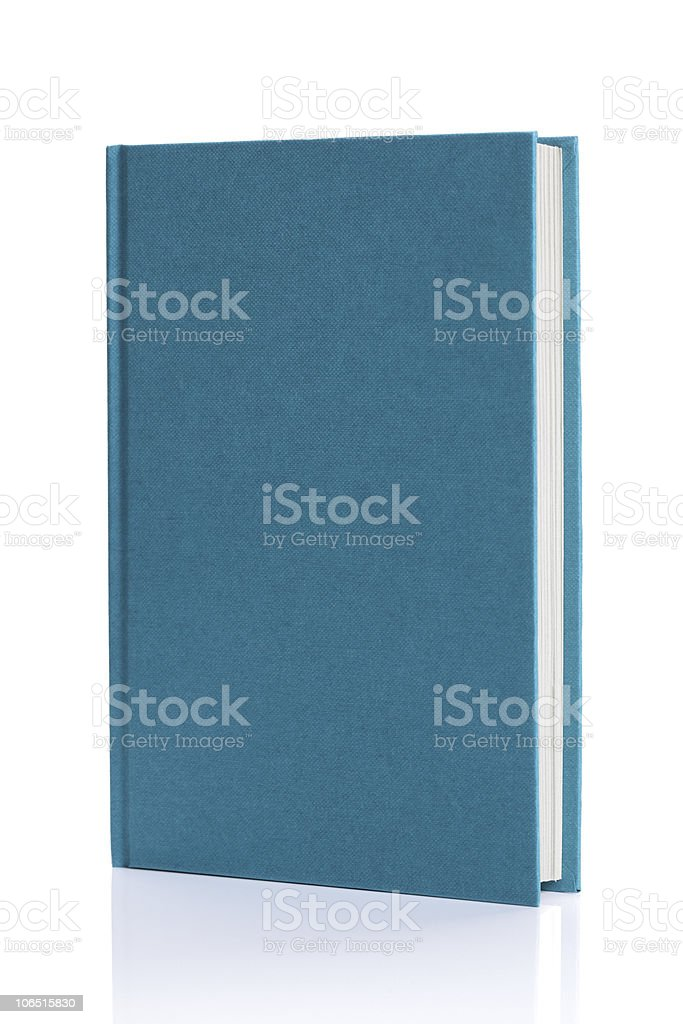 Isolated blank blue hardback book royalty-free stock photo