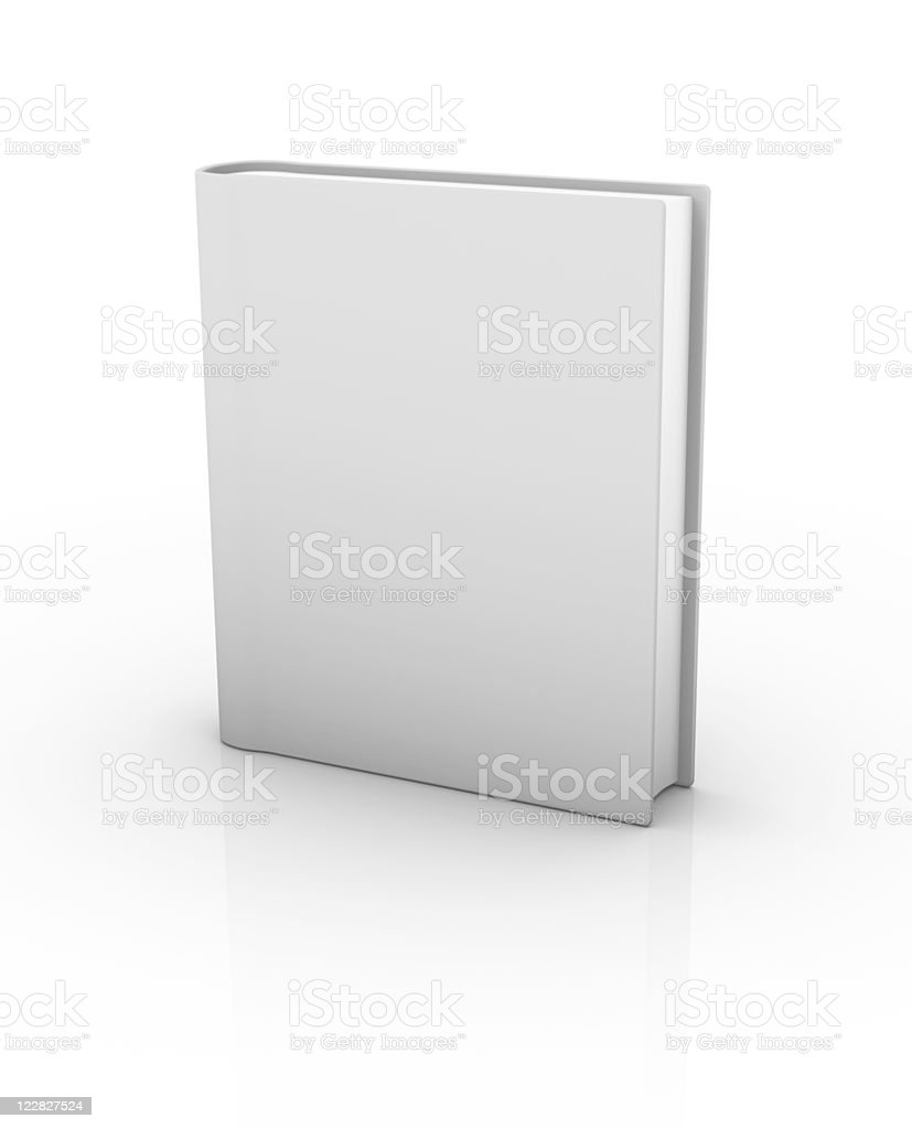 Isolated Blank Book vector art illustration