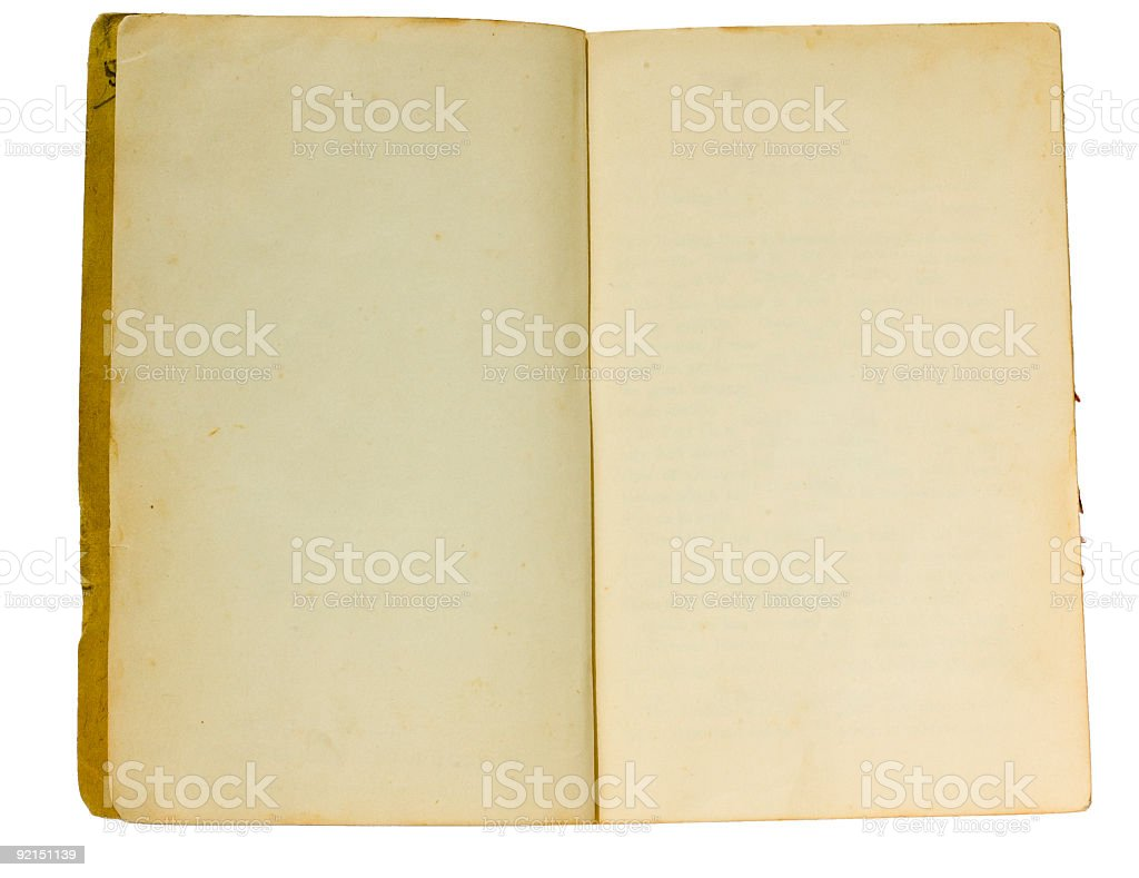 Isolated blank book royalty-free stock photo
