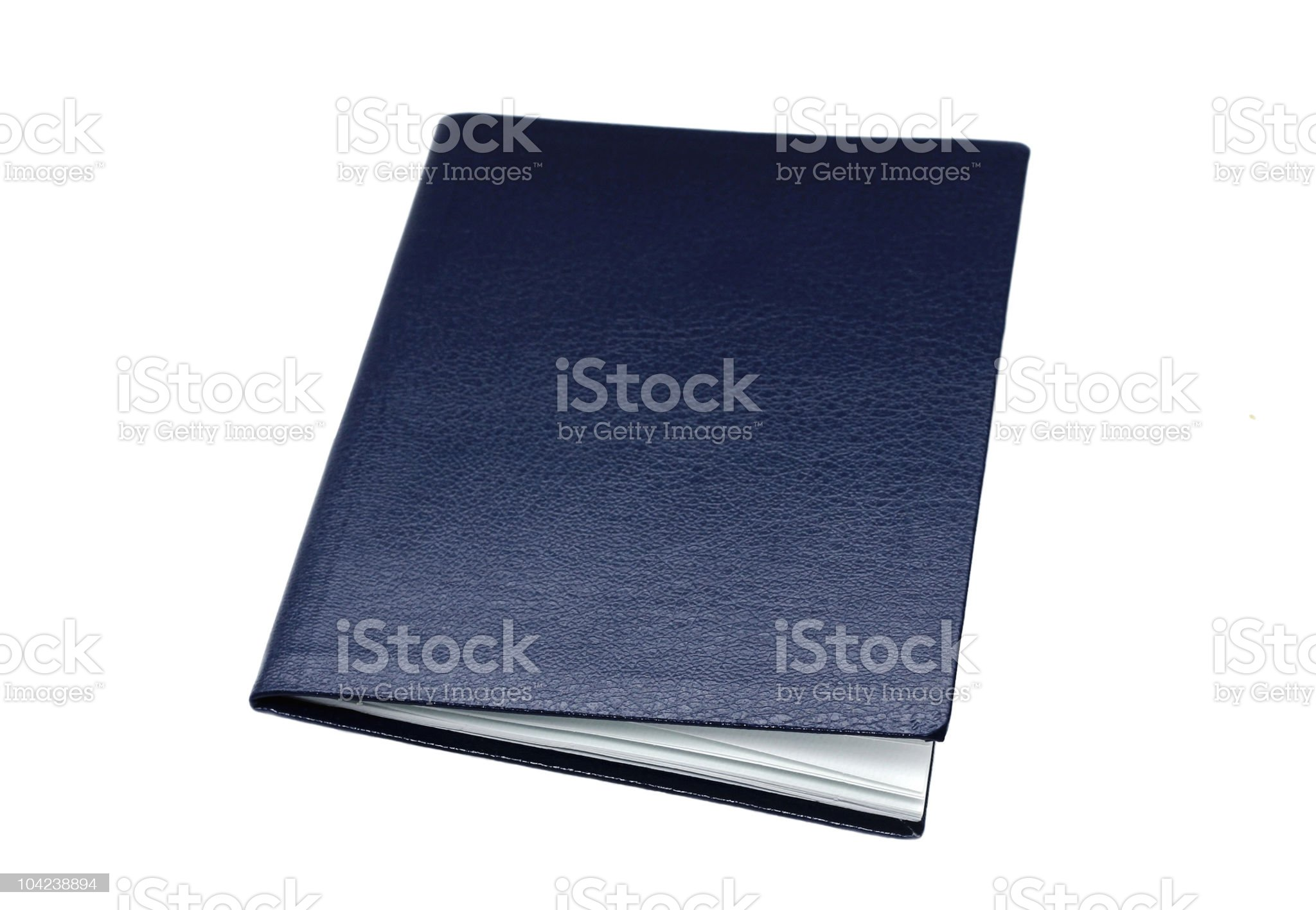 Isolated Blank Booklet royalty-free stock photo