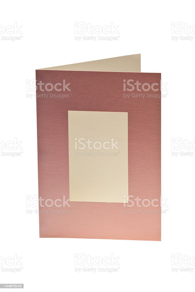 Isolated Blank Greeting Card With Window royalty-free stock photo