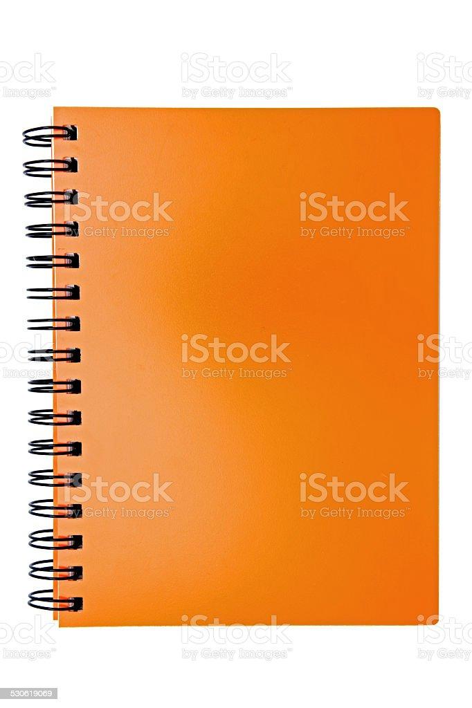 isolated blank orange ring binding book stock photo