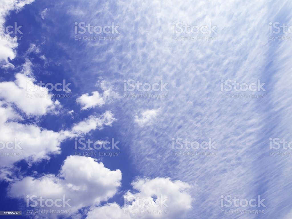 Isolated blue cloudy sky royalty-free stock photo