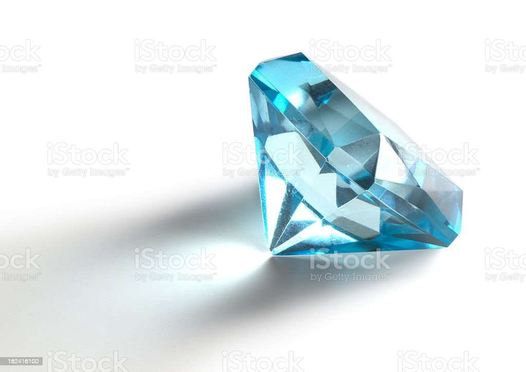 Isolated Blue Diamond royalty-free stock photo