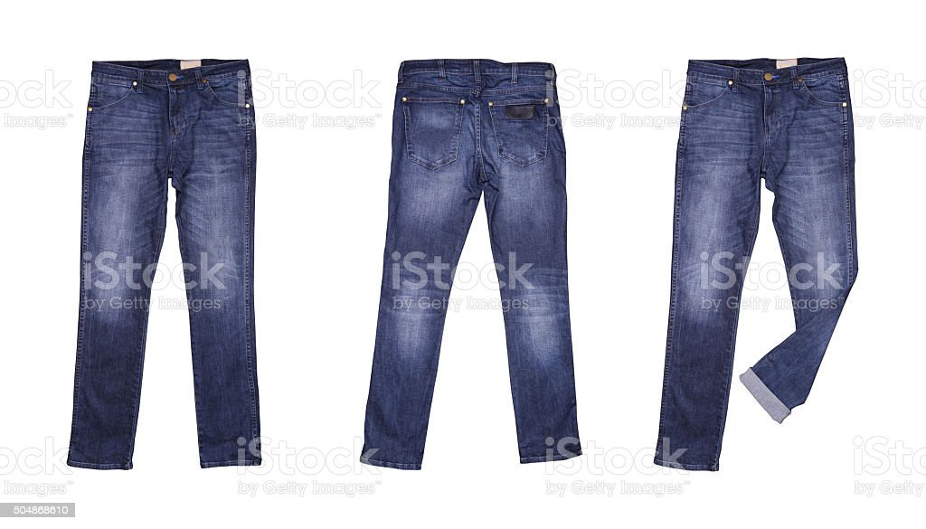 Isolated blue jean stock photo