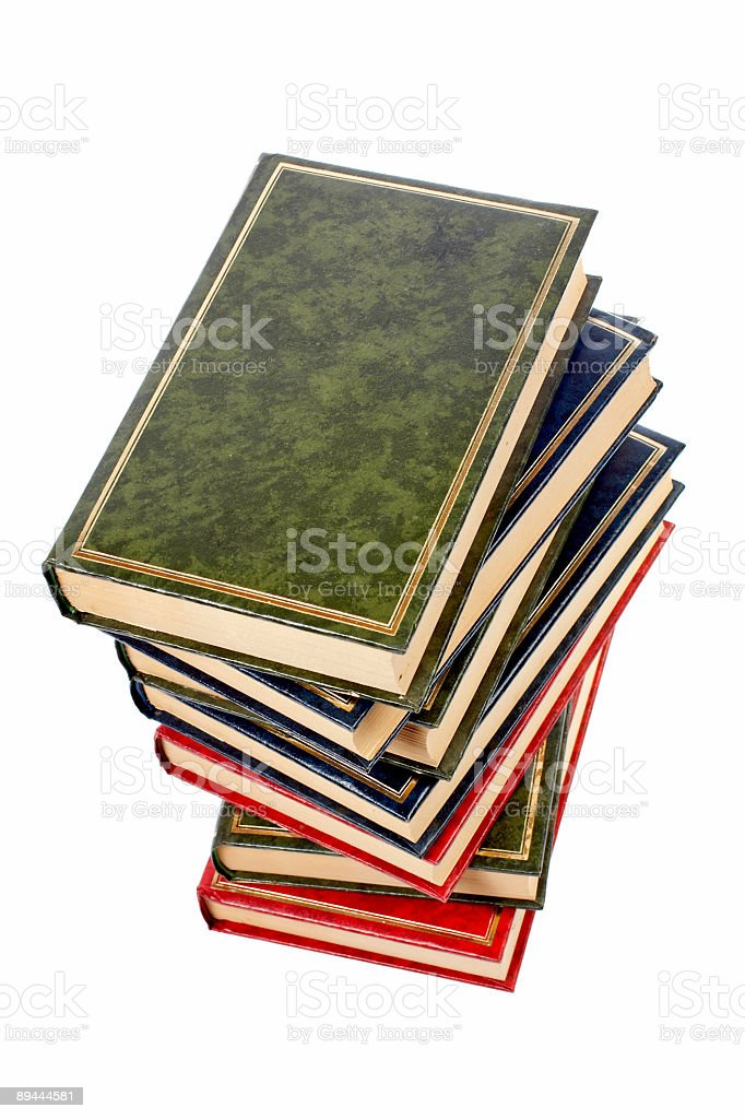 Isolated books stack royalty-free stock photo