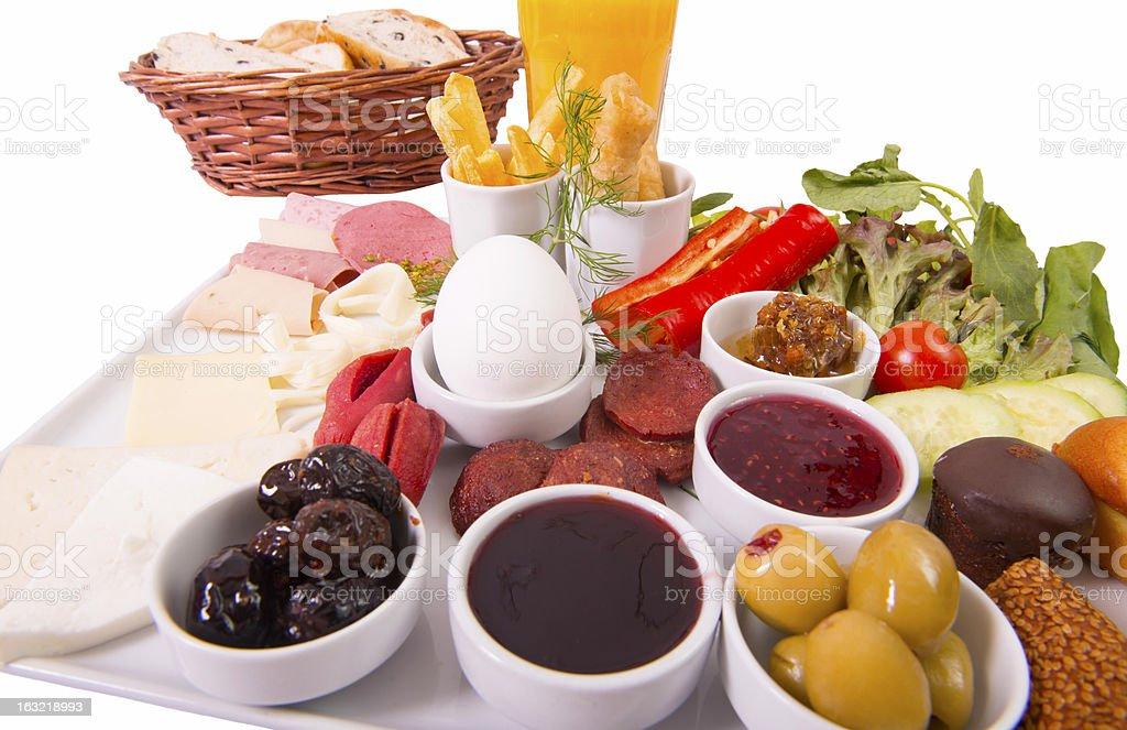 isolated breakfast table (XXXL) royalty-free stock photo