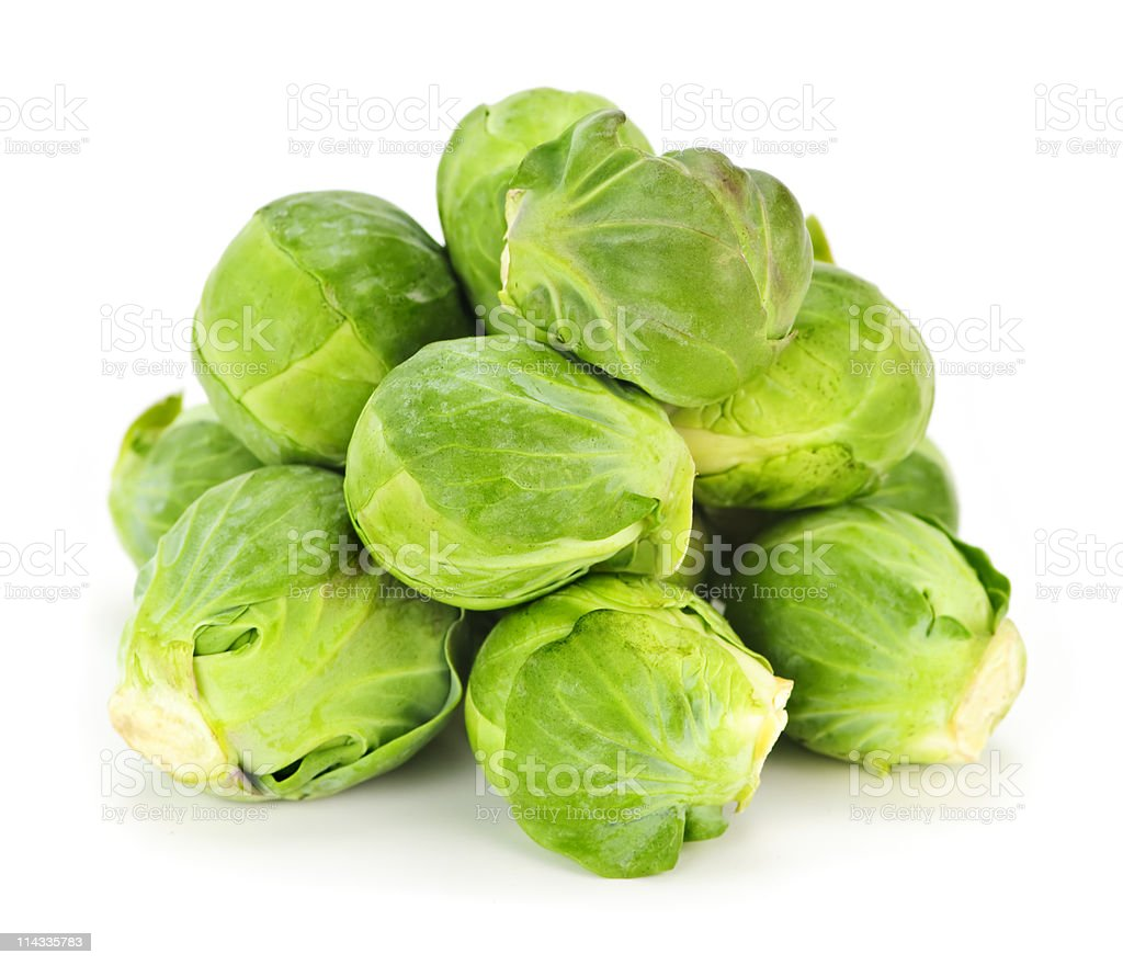 Isolated brussels sprouts stock photo