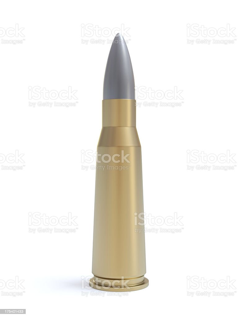 Isolated bullet royalty-free stock photo