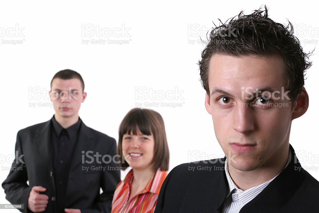 Isolated business team stock photo