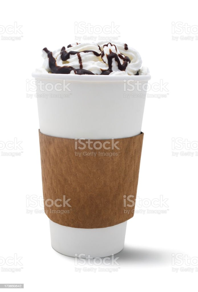 Isolated Cafe Mocha stock photo