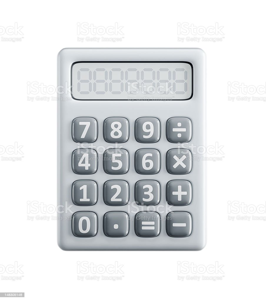 isolated calculator stock photo