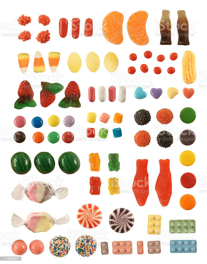 Isolated Candy Collection royalty-free stock photo