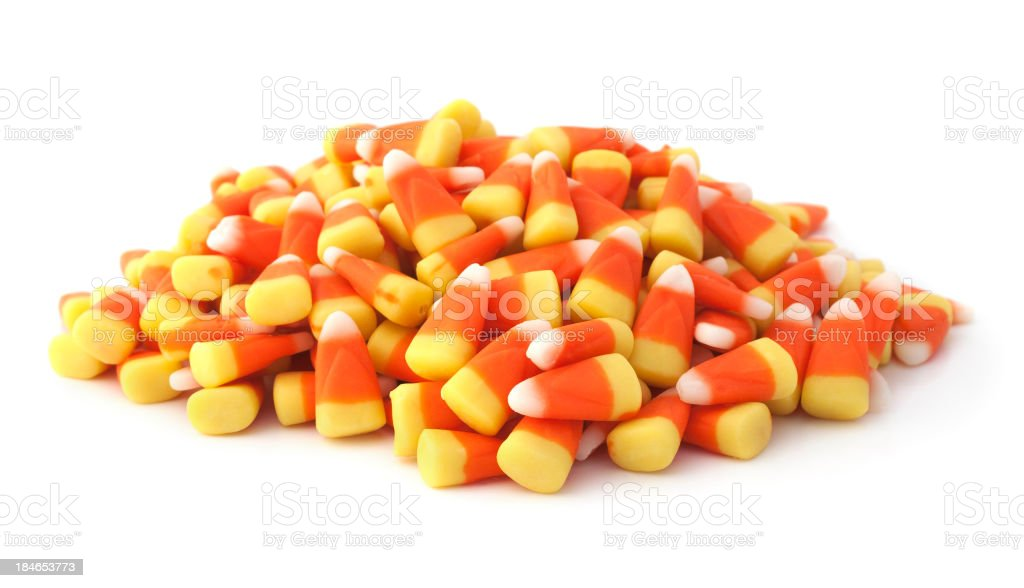 Isolated Candy Corns stock photo