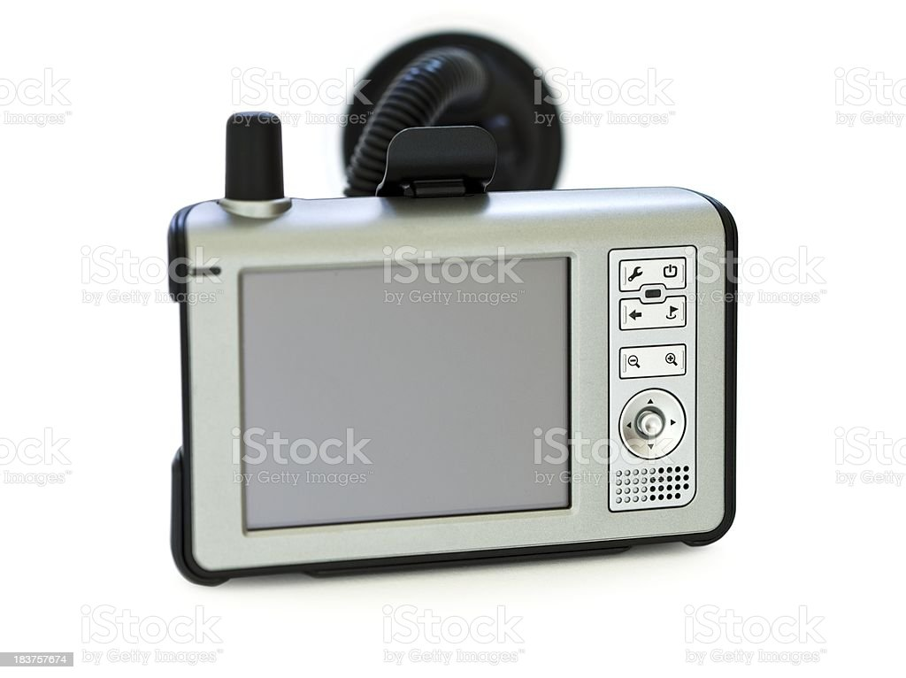 Isolated car navigation device on white royalty-free stock photo