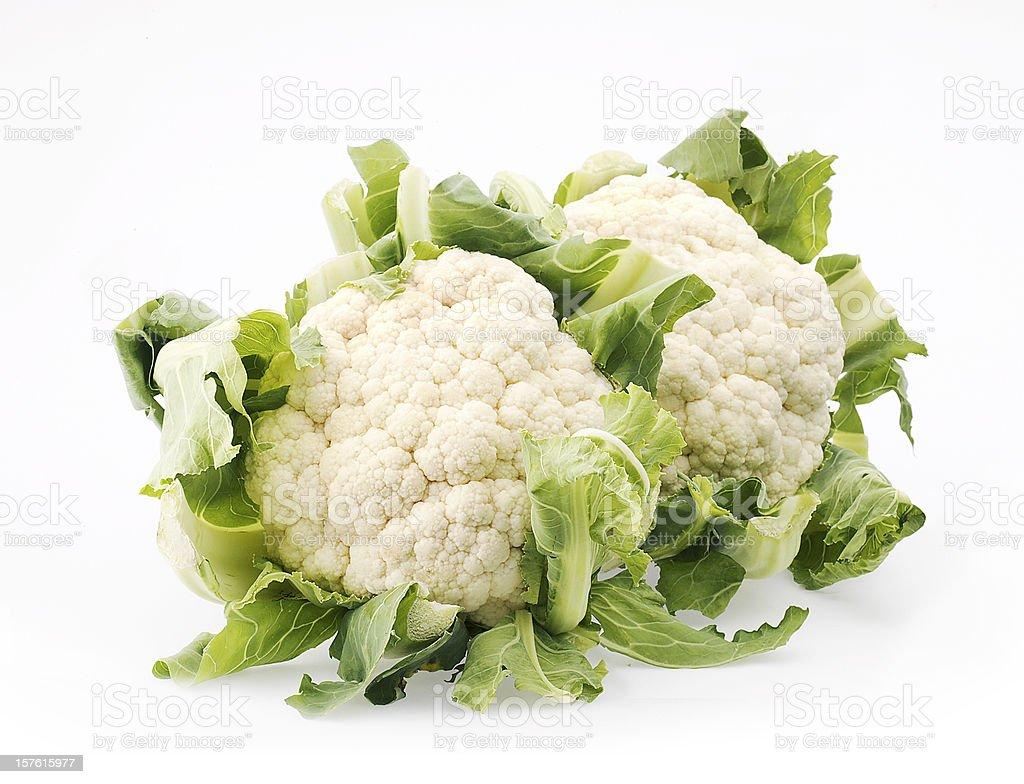 isolated cauliflower royalty-free stock photo