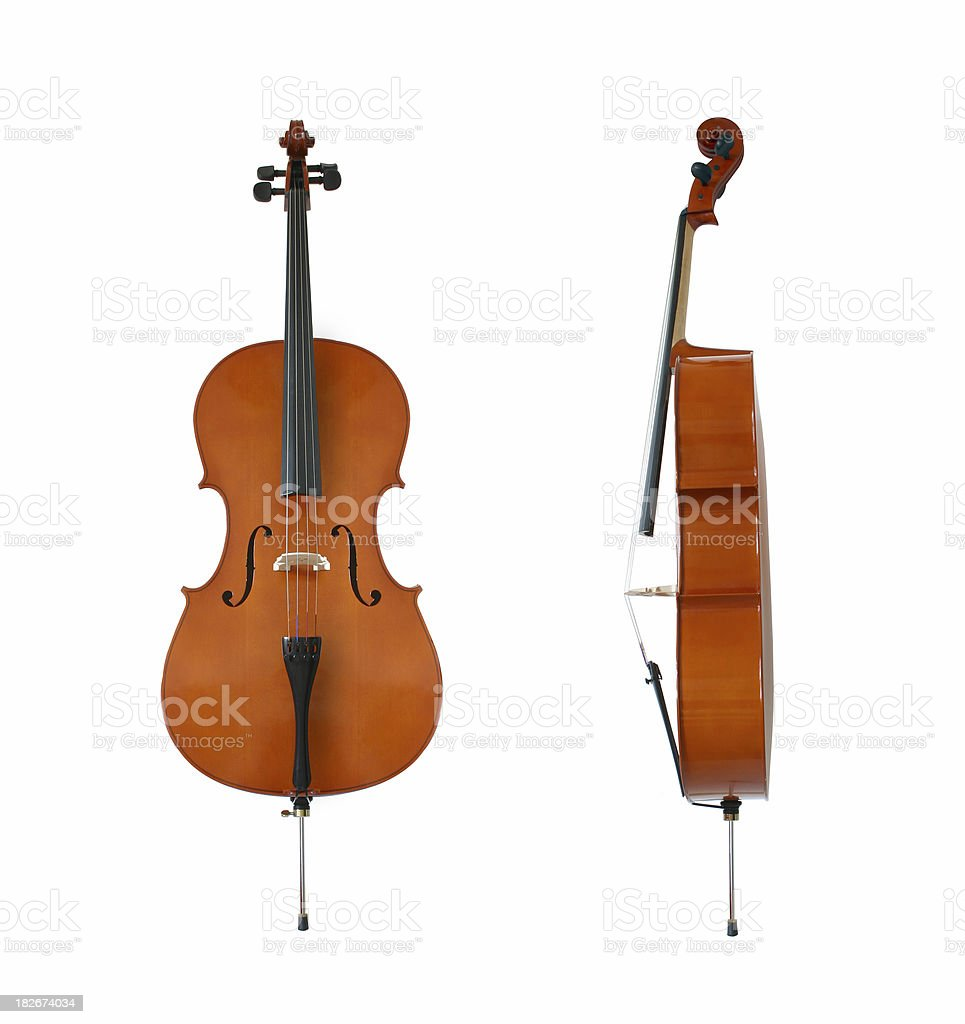 Isolated cello royalty-free stock photo